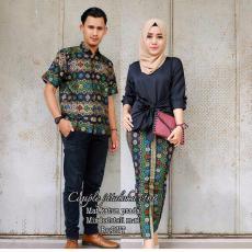 Batik Couple / Baju Batik Sarimbit Pitaloka Etnic - HITAM