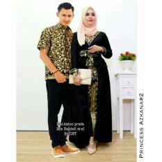 Baju Batik Couple - Batik Sarimbit - Batik Kondangan - Kebaya batik Modern - Baju Gamis Wanita Terbaru - Batik Couple Azkana Couple - HITAM