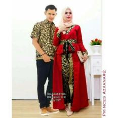 Harga Termurah Batik Couple Batik Sarimbit Azkana Couple Marun