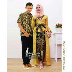 Batik Couple / Baju Batik Sarimbit Princess Azkana - GOLD