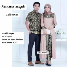 Batik Couple / Baju Batik Sarimbit Princess Couple - LATTE