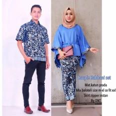 Batik Couple / Batik Sarimbit Robbani Set Couple - BIRU
