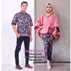 Batik Couple / Batik Sarimbit Robbani Set Couple - PINK