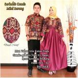 Toko Batik Couple Batik Sarimbit Gamis Mini Barong Merah Online Terpercaya
