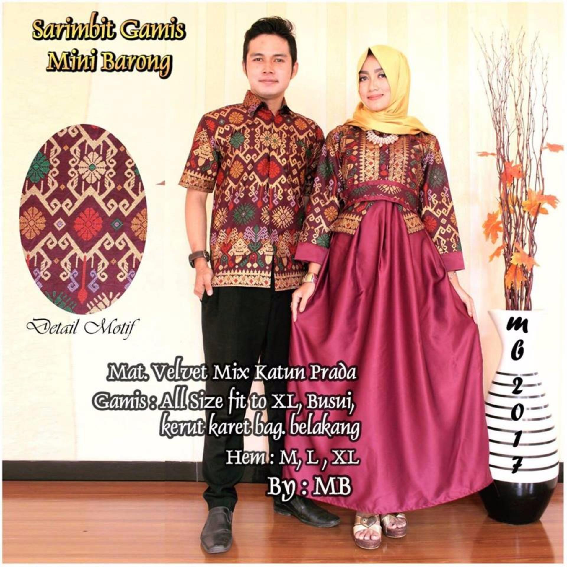 PENAWARAN Batik Couple   Batik Sarimbit Gamis Mini Barong - MERAH ... 958e97f4ec