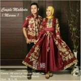 Model Batik Couple Baju Batik Sarimbit Couple Mahkota Terbaru