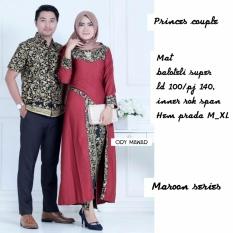 Batik Couple / Batik Sarimbit Princess Couple - MARUN