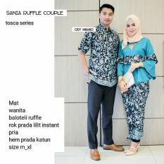 Batik Couple / Baju Batik Sarimbit SANIA RUFFLE - TOSCA