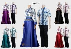 Baju Batik Couple Gamis Velvet