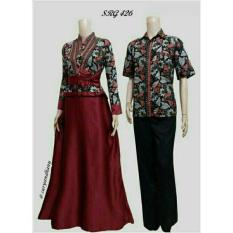 Baju Batik Couple Gamis Velvet SRG 426 Exclusive Batik