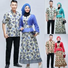 Baju Batik Couple Pria Dan Wanita - Almia Daun Series