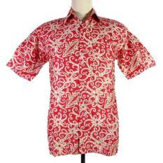 Baju Batik kalimantan-HM3016-Merah