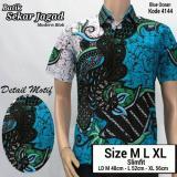 Promo Baju Batik Kantor Baju Batik Kerja Atasan Batik Hem Batik Pria Motif Jagad Tosca Azka Batik