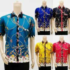 Baju Batik Kemeja Batik Pria Lengan Pendek Katun Modern- Naura Madura Series