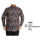 Jual Baju Batik Modern Kemeja Pria Reguler Fit W08R Ori