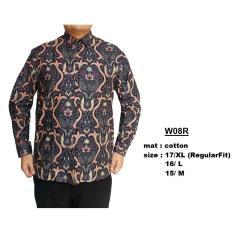 Toko Baju Batik Modern Kemeja Pria Reguler Fit W08R Lengkap Dki Jakarta