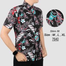 Review Baju Batik Modern Kemeja Pria Slim Fit 7640 Terbaru
