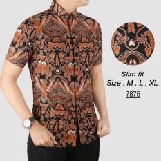 Pusat Jual Beli Baju Batik Modern Kemeja Pria Slim Fit 7875 Indonesia