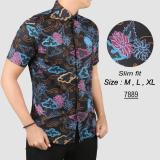 Harga Baju Batik Modern Kemeja Pria Slim Fit 7889 Herman Original