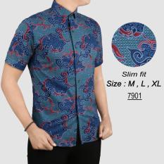 Jual Baju Batik Modern Kemeja Pria Slim Fit 7901 Murah Dki Jakarta