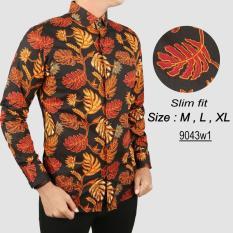 Review Pada Baju Batik Modern Kemeja Pria Slim Fit 9043W1