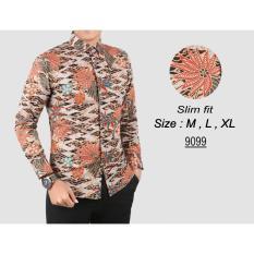 Situs Review Baju Batik Modern Kemeja Pria Slim Fit 9099