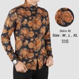 Harga Termurah Baju Batik Modern Kemeja Pria Slim Fit 9145