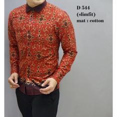 Beli Baju Batik Modern Kemeja Pria Slim Fit D545 Online