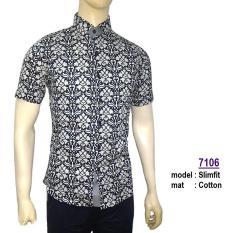 Toko Baju Batik Modern Kemeja Pria Slim Fit S7106 Lengkap