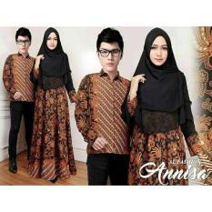 Baju Batik Pasangan Muslim Pesta / Kemeja Batik Pasangan Muslim Kondangan /Couple Batik Syari Annisa