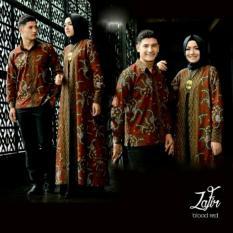 Baju Batik Pasangan Pesta / Kemeja Batik Pasangan Kondangan / Couple Muslim Batik ZAFIR Set 3in1
