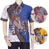 Promo Baju Batik Pria Kemeja Batik Pekalongan Pakain Batik Blok Bunga Batik Terbaru