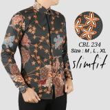 Harga Baju Batik Pria Slim Fit Modern Lengan Panjang Lengkap