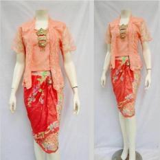 Baju Batik Stelan Rok Dan Blus - Brokat Series Exclusive Batik