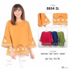 Review Pada Baju Blouse Katun Bordir Wanita Free Size Fashion Atasan Wanita 8854 Zetta Jumbo Murah