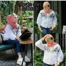 Baju Bordies Shirt Wolfice Blouse Muslim Modern Panjang Hijab Casual Pakaian Wanita Cewek Murah