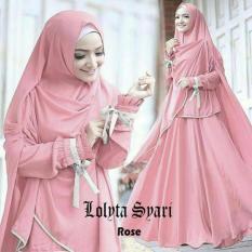 Review Baju Busana Muslim Gamis L*l*t* Syari Warna Rose