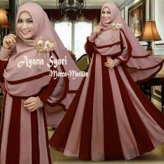 Beli Baju Busana Muslim Gamis Maxy Syari Bergo No Pad Gamis Remaja Batik Dress Secara Angsuran