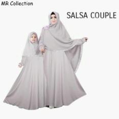 Baju Busana Muslim Gamis Salsa Couple Tosca Ibu Dan Anak Plus Hijab - Rui4za