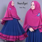 Promo Baju Busana Muslim Gamis Syari Busui Bergo No Pad Batik Couple Dress Murah