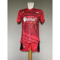Beli Baju Celana Olahraga Kaos Setelan Badminton Jersey Bulutangkis Lining L27 Red Kredit