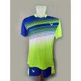 Promo Baju Celana Olahraga Kaos Setelan Badminton Jersey Bulutangkis Victor V21 Stabilo Indonesia