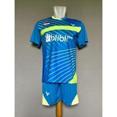 Baju Celana Olahraga Kaos Setelan Badminton Jersey Bulutangkis Victor V24 Benhur