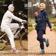 Baju Celana Senam Muslimah Remaja Setelan Olahraga Sporty Modis QDF 08/Baju Olahraga Muslimah/stelan olahraga muslim/baju olahraga muslim/Stelan Olahraga Wanita/Baju Olahraga Wanita