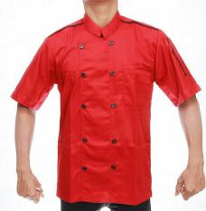 Baju chef pria wanita/merah(006)