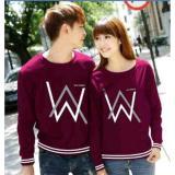 Obral Ratucouple Baju Couple Aw Kaos Couple Lengan Panjang Tshirt Sweater Termurah Best Seller 2L Wa Maroon Murah