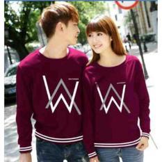 Jual Ratucouple Baju Couple Aw Kaos Couple Lengan Panjang Tshirt Sweater Termurah Best Seller 2L Wa Maroon Satu Set