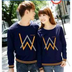 Jual Lf Baju Couple Aw Kaos Couple Lengan Panjang Tshirt Sweater Termurah Best Seller 2L Wa D30 Navy D3C Murah