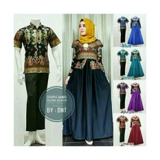 Baju batik couple pesta sarimbit gamis - Ranaya fashion