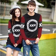 Grosir Baju Kapel Online - Kaos Baju Couple - Kaos Pasangan ( Kembaran / Capel / Copel / Coupel ) Lp New xxxx Maroon